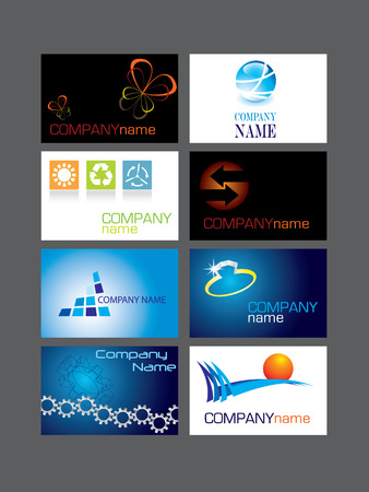 Business card series Vector