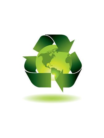 ozone friendly: Ecology globe