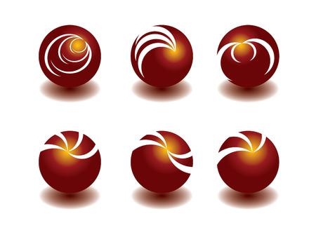 Marble logo set Vector