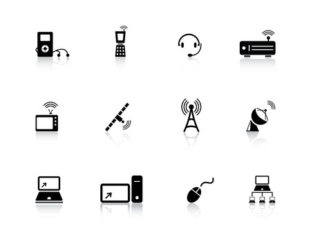 quot: Media and communication icons from series Illustration