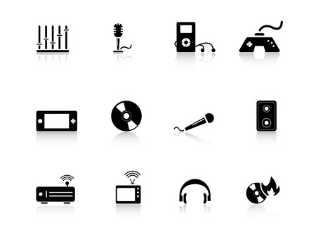 Entertainment icons from series Vector