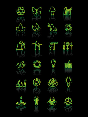 Ecology and power icons Vector