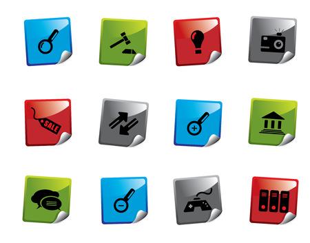 Web icon sticker series Vector