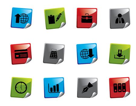 Web icon sticker series Stock Vector - 3723431