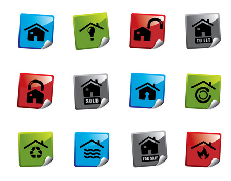 Web icon sticker series Vector