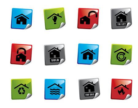 Web icon sticker series Stock Vector - 3723435