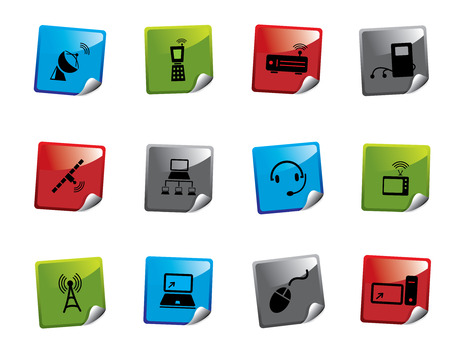 telephone mast: Web icon sticker series