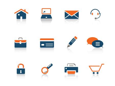 Web icon blue orange series 1 Stock Vector - 3792640