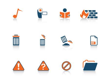 Web icon blue orange series 3 Illustration