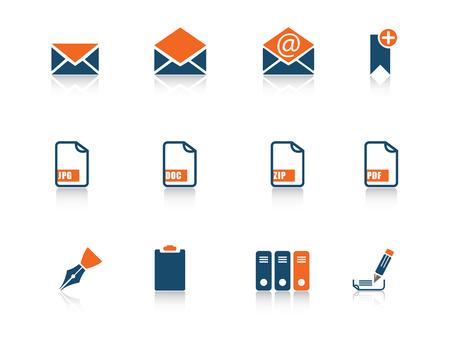 docs: Web icon blue orange series 4