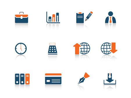 Web icon blue orange series 6 Illustration
