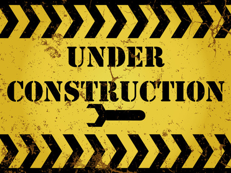 Grunge constuction sign