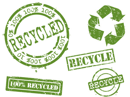 Rubber stamp series...recycling Stock Vector - 3792662