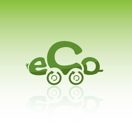 quot: Eco car Illustration
