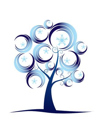 Résumé série d'arbres en hiver ...