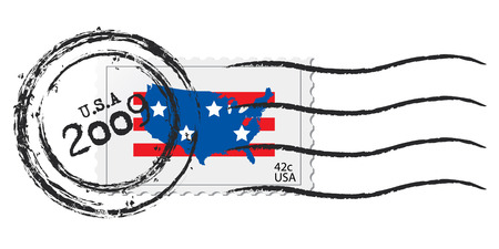 2009 42c USA stamp Vector