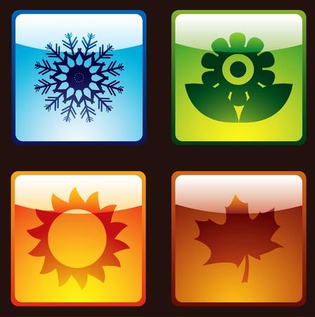 quatre saisons: Quatre saisons Illustration