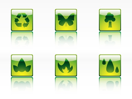 ozone friendly: Ecology, power and energy icon series Illustration