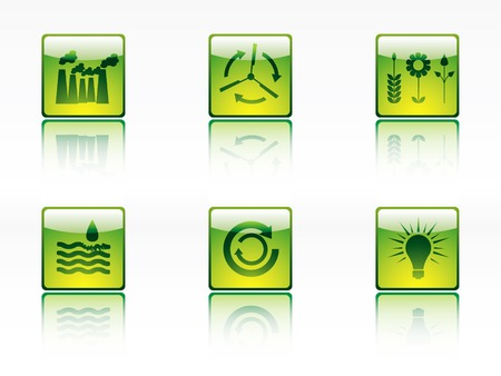 recyclable waste: Ecology, power and energy icon series Illustration