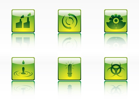 Ecology, power and energy icon series Vector