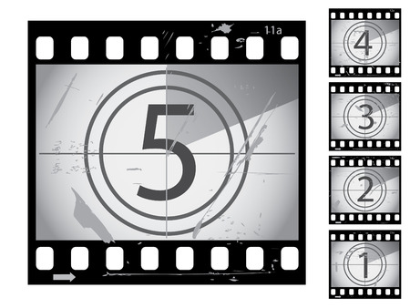 countdown: Grunge film countdown from series Illustration