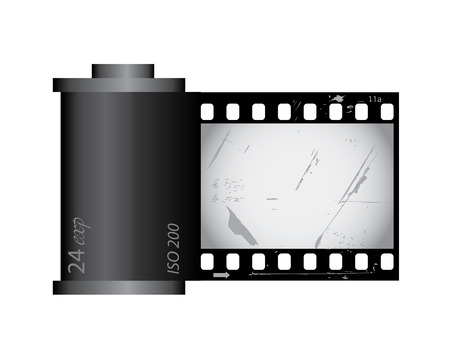 Grunge film canister from series Vector