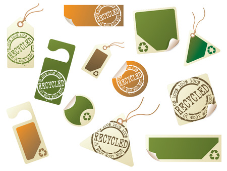 Recycling tag collection Vector