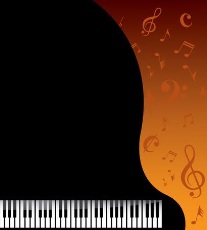 piano keyboard: Music background