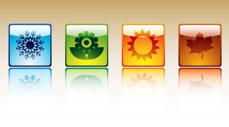 Four season icons Illustration