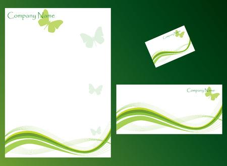 butterfly stationary: Ecology stationery set