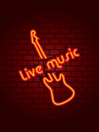 Neon music sign Stock Vector - 4259828
