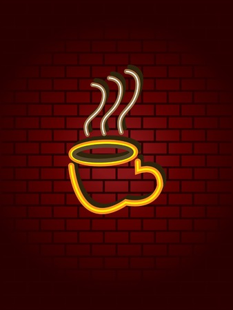 walled: Neon coffee sign