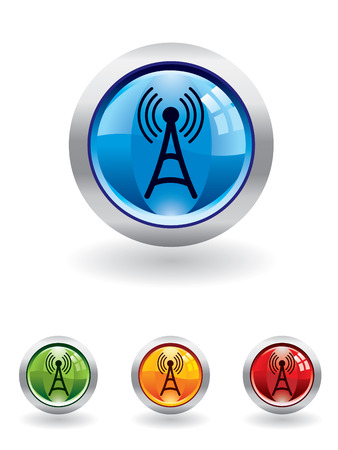 Communication button from series Vector