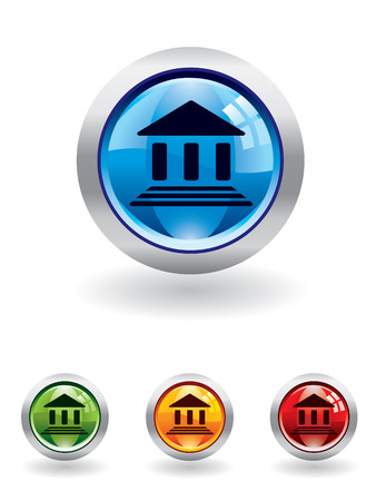 Bank button from series Vector