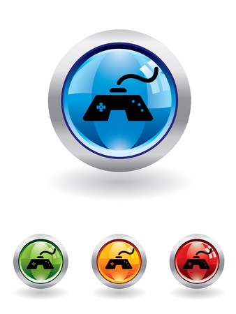 playstation: Gaming button from series Illustration