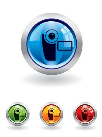 Movie button from series Stock Vector - 4259831