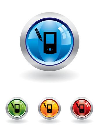 palm pilot: Palm pilot button from series