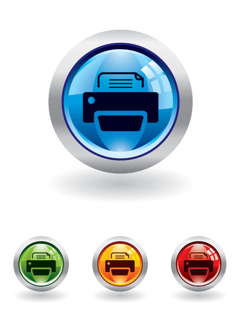 Printer button from series Vector