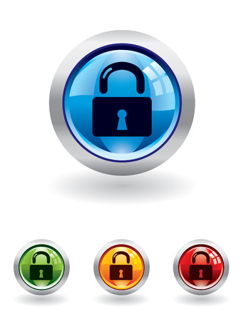 Security button from series Vector