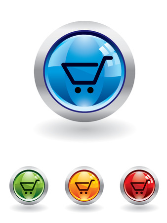 Cart button from series Stock Vector - 4288936