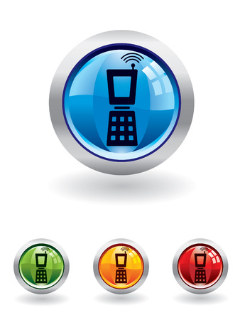 Mobile button from series Vector