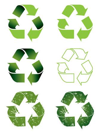 Recycle symbol set Stock Vector - 4288945