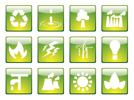 Ecology icons 1 Stock Vector - 4372475