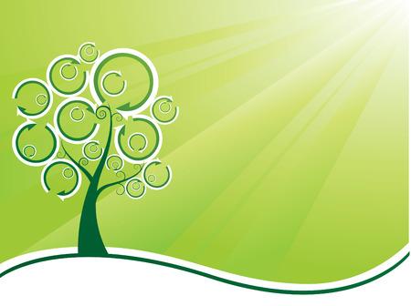 ozone friendly: Ecology background Illustration