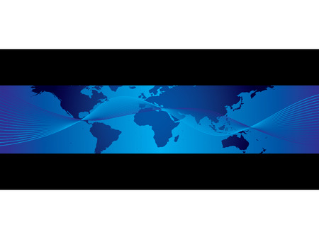 World business banner Vector