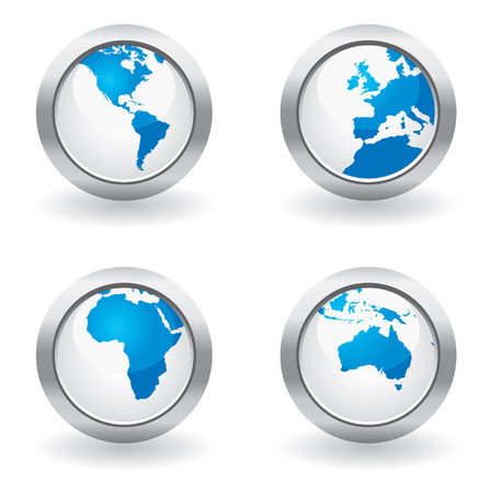 Business map buttons Vector