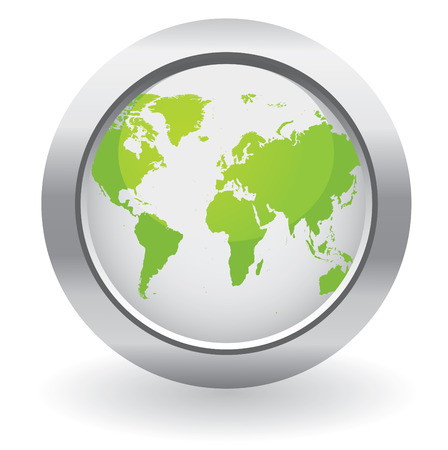 world communication: Ecology world map button