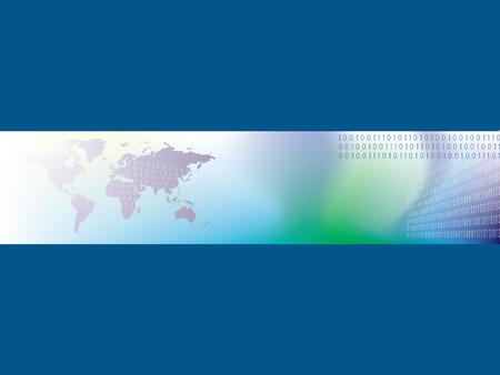 binary globe: World business header