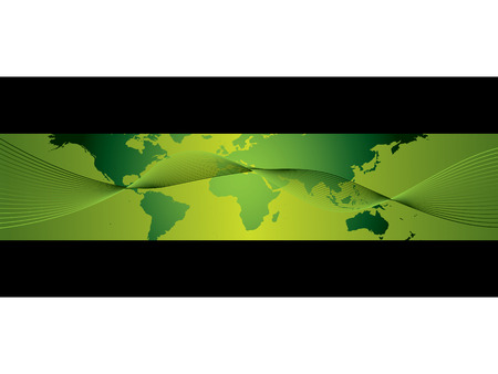 World business banner Vector