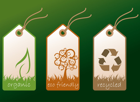 recycle symbol vector: Ecology tags